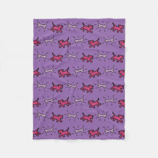 Graffiti style Dogs and Bones Dog Blanket 1