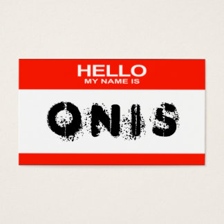Graffiti style 'Hello My Name Is' Business Cards