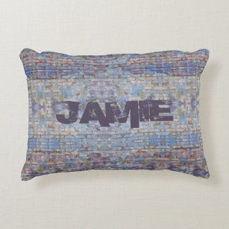 Graffiti Style Personalised Accent Pillow