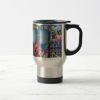 Graffiti Subway Train. Travel Mug