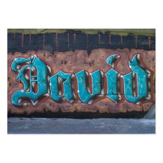 Graffiti Tag David Business Card Template