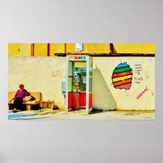 Graffiti Telephone Booth, Poster