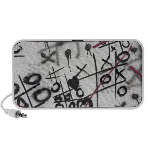 Graffiti Tic Tac Toe Speakers