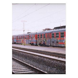 graffiti train postcard