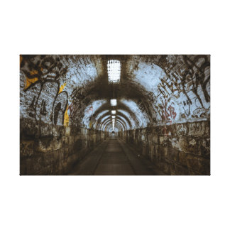 Graffiti Tunnel Urban Decay Canvas