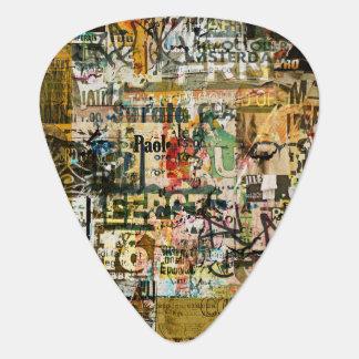 graffiti urban decay guitar pick