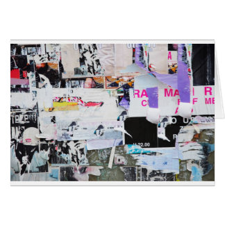 Graffiti Wall Banksy Style Torn Paper Card