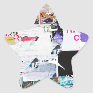 Graffiti Wall Banksy Style Torn Paper Star Sticker