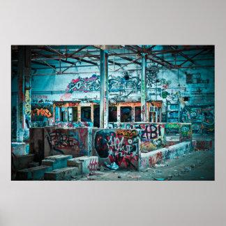 Graffiti Warehouse Poster