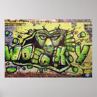 Graffiti Wooky Poster