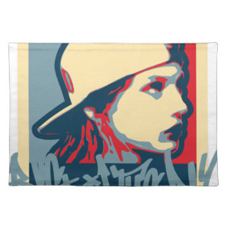 Graffiti Writer Hiphop Vintage Oldschool Art Crime Placemat