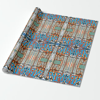 Graffitit & Rust Wrapping Paper