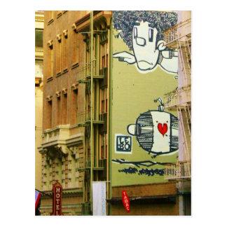 Graffitti Wall Photo Postcard