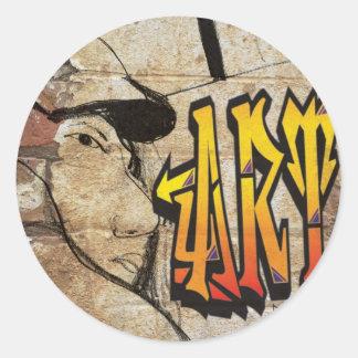 Grafiti Artist Round Sticker