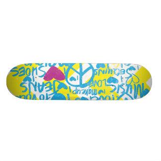 Grafitti Aqua-Purple 21.3 Cm Mini Skateboard Deck