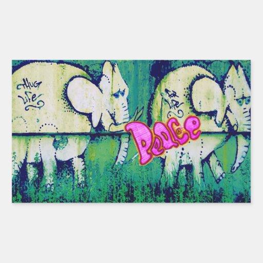 grafitti elephants sticker