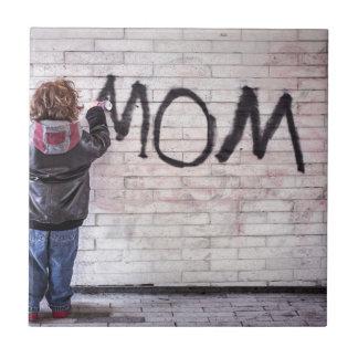 Grafitti For Mom Tile