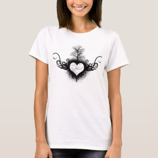 Grafitti Heart - Womens T-Shirt