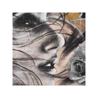 Grafitti woman canvas print