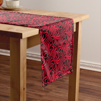 Grafton Red and Black Short Table Runner
