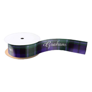 Graham clan Plaid Scottish tartan Satin Ribbon