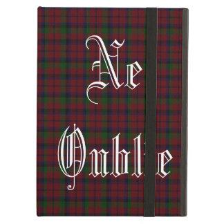 Graham Clan Red Montrose Tartan iPad Case