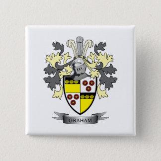 Graham Family Crest Coat of Arms 15 Cm Square Badge