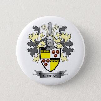Graham Family Crest Coat of Arms 6 Cm Round Badge