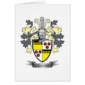 Graham Family Crest Coat of Arms Card