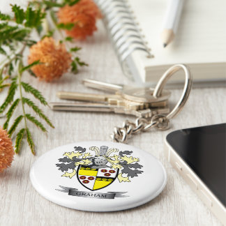 Graham Family Crest Coat of Arms Key Ring