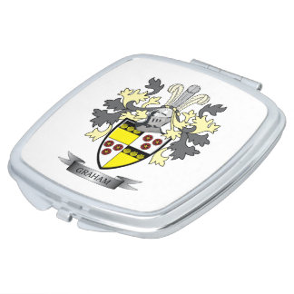 Graham Family Crest Coat of Arms Makeup Mirrors