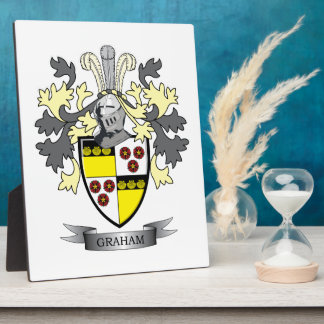 Graham Family Crest Coat of Arms Plaque
