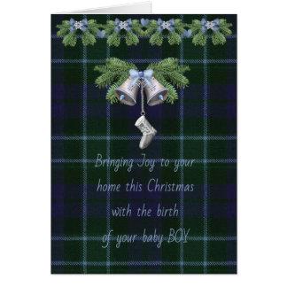 Graham MentiethTartan Christmas Baby Boy Card