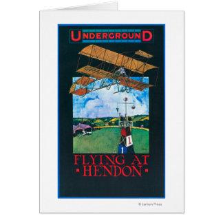 Grahame-White And Plane over Aerodrome Poster Card