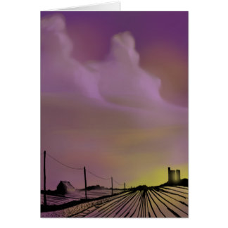 Grain Elevator Greeting Card Blank