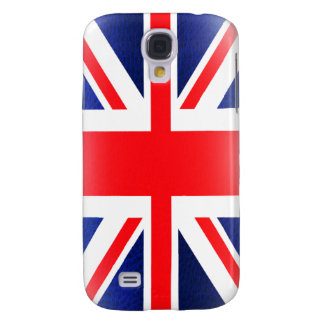 Grained Leather Union Jack Iphone 3 Case Galaxy S4 Case