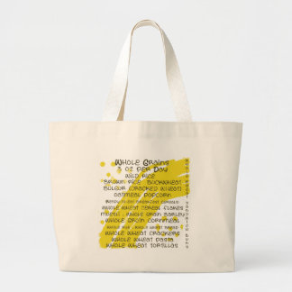 grains - eat healthy jumbo tote bag