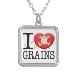 Grains Love Man Silver Plated Necklace