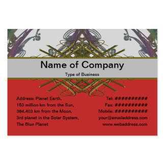 Grainy Elegant Design Pack Of Chubby Business Cards