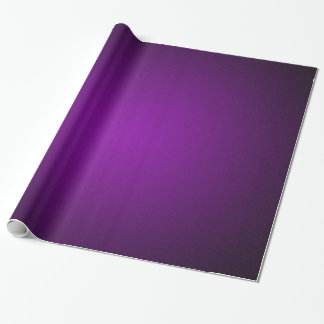 Grainy Purple-Black Vignette Wrapping Paper