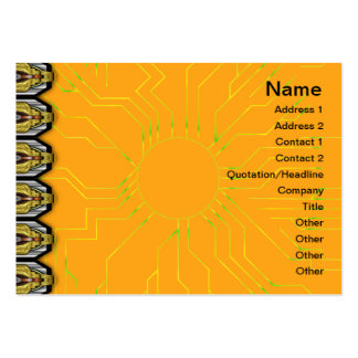 Grainy Suns Inverted Business Card Template