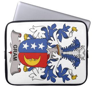 Gram Family Crest Laptop Computer Sleeves