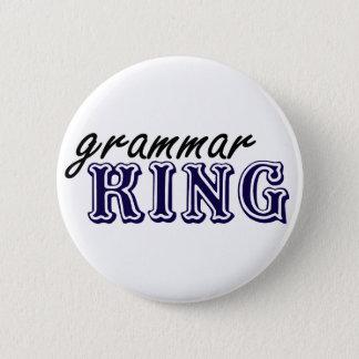 Grammar King 6 Cm Round Badge