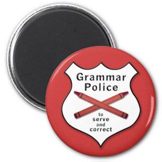 Grammar Police Badge 6 Cm Round Magnet