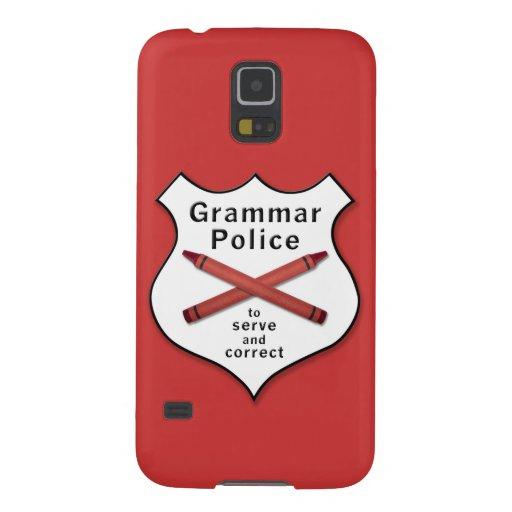 Grammar Police Badge Galaxy S5 Case