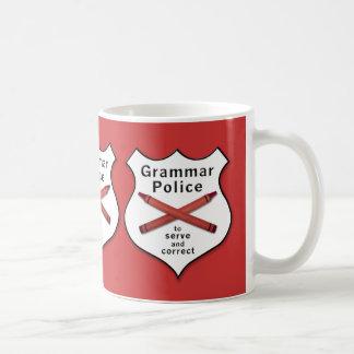 Grammar Police Badge Mugs