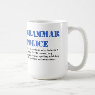 Grammar Police Basic White Mug