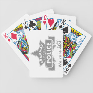 Grammar Police Bicycle Playing Cards