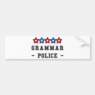Grammar Police Bumper Stickers