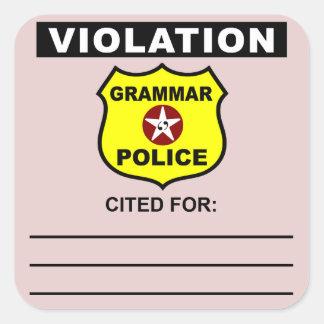 Grammar Police Citation Sticker